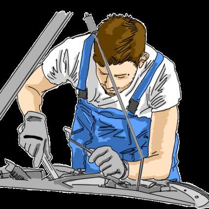 mechanic, garage, work